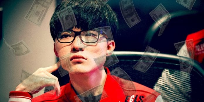 Faker League of Legends lluvia de dinero