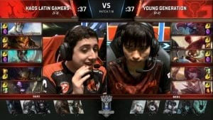 KLG vs YG Worlds día 4