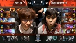 WE vs YG