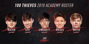 """El equipo de NA """"100 Thieves"""" ficha a Levi"""