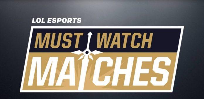 Must Watch Matches. Las mejores partidas de la semana