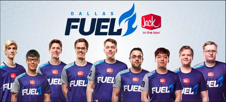 Los jugadores iniciales de Dallas Fuel.