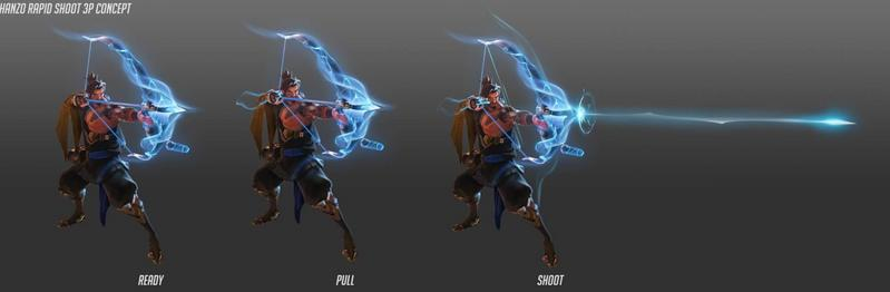 """Arte de la nueva habilidad de Hanzo, """"tormenta de flechas""""."""