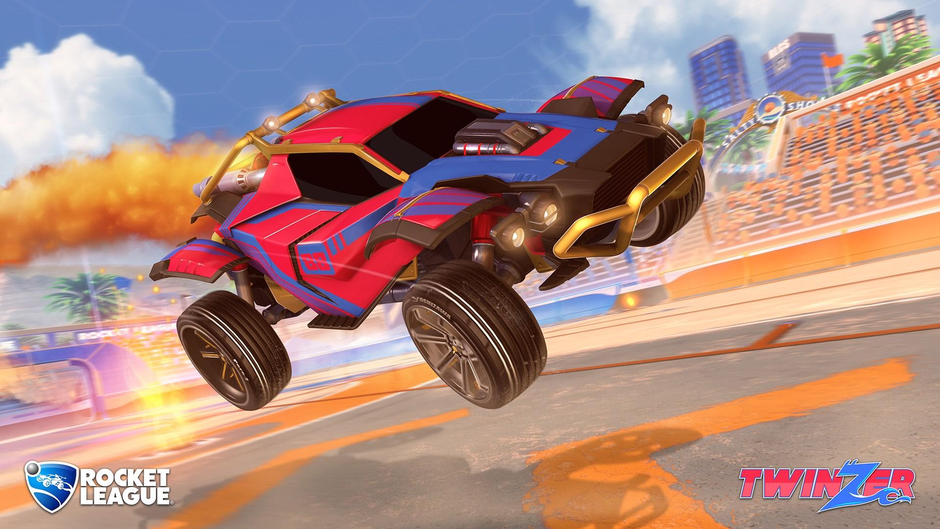 La nueva actualización traerá además este nuevo coche al repertorio de Rocket League: el Twinzer