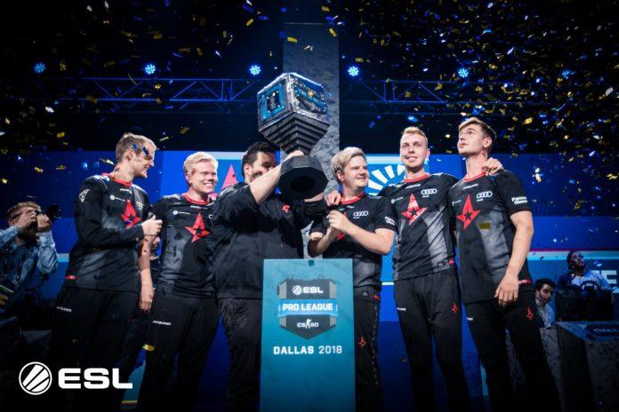 Astralis celebra el titulo de la ESL Pro League (ESL).