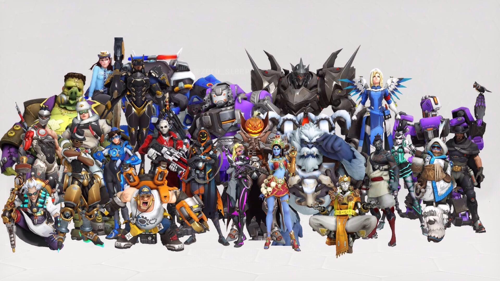 Personajes de Overwatch con distintos aspectos