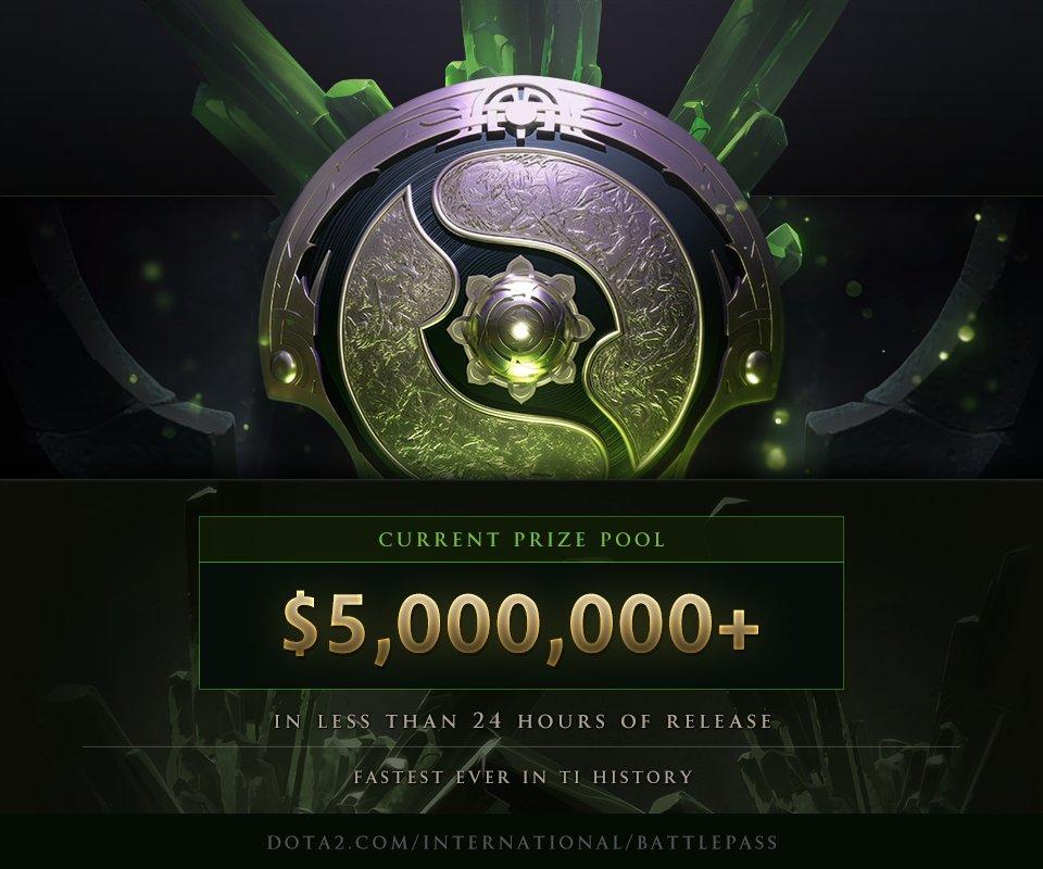 Valve anuncia que el premio de The International 8 alcanza en menos de 24 horas la cifra de 5 millones de dólares
