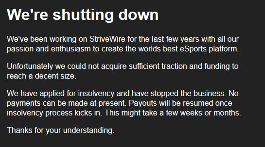 Mensaje web Strivewire