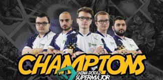 Team Liquid ganan el Supermajor de China. De izquierda a derecha: Mind_Control, Kuroky, Miracle, Matumbaman y Gh