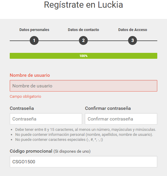 registro luckia