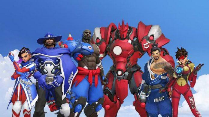 Skins de los diferentes países de la Fase de Corea de la Overwatch World Cup.