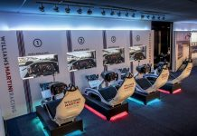 Sala de simuladores del equipo Williams Martini Racing