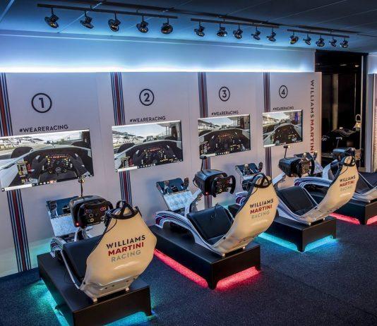 Sala de simuladores del equipo Williams Martini Racing