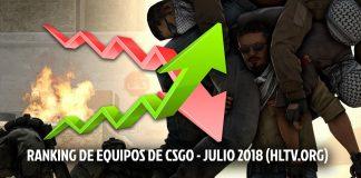 Ranking de equipos de CS:GO Julio 2018 de HLTV.org