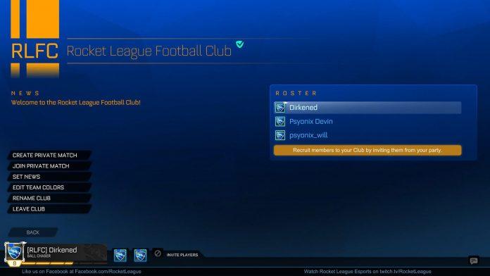 Más información sobre la característica Clubes de Rocket League