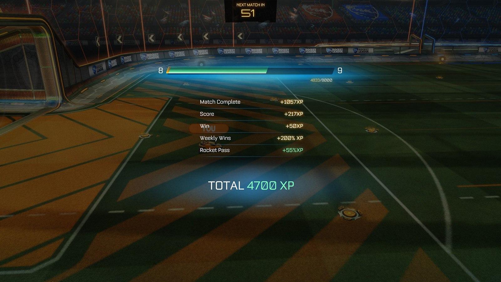 Nuevo sistema de experiencia en Rocket League