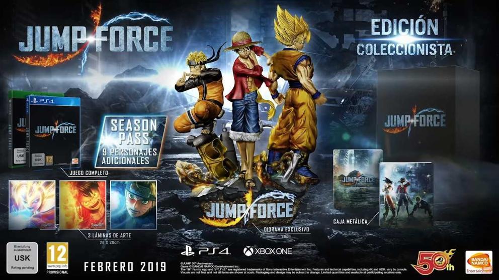 Edición coleccionista de Jump Force, Bandai Namco