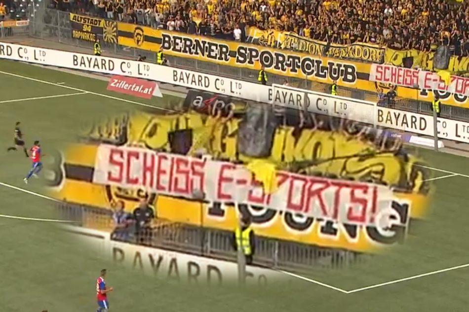 Protesta contra los eSports Young Boys vs FC Basilea
