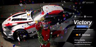 Fernando Alonso gana las dos exhibiciones del equipo Toyota Gazoo en Gran Turismo