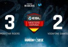 Movistar Riders ganó 3-2 a Vodafone Giants en la final de la ESL Masters de Rainbow Six