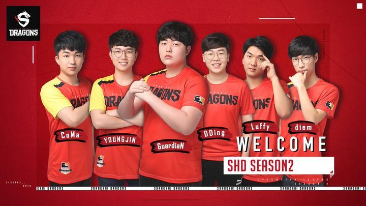 CoMa, YOUNGJIN, GuardiaN, DDing, Luffy y diem son los nuevos jugadores de Shanghai Dragons.