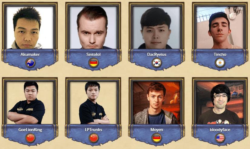 Jugadores del Fall Championship del HCT 2018