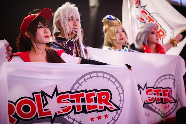 Fans de KT Rolster en el mundial de League Of Legends 2018. Foto de Riot Games