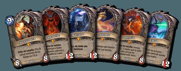 Hearthstone. los seis dragones legendarios clásicos