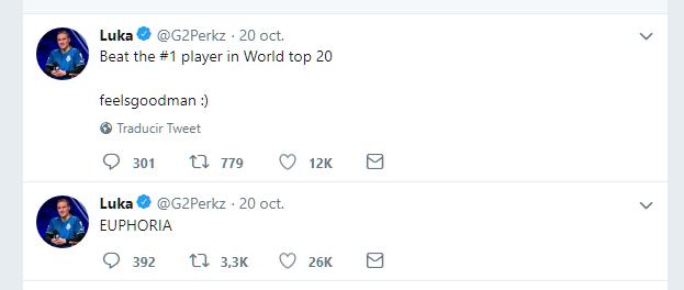 """Tweets de """"Perkz"""" al acabar el encuentro"""