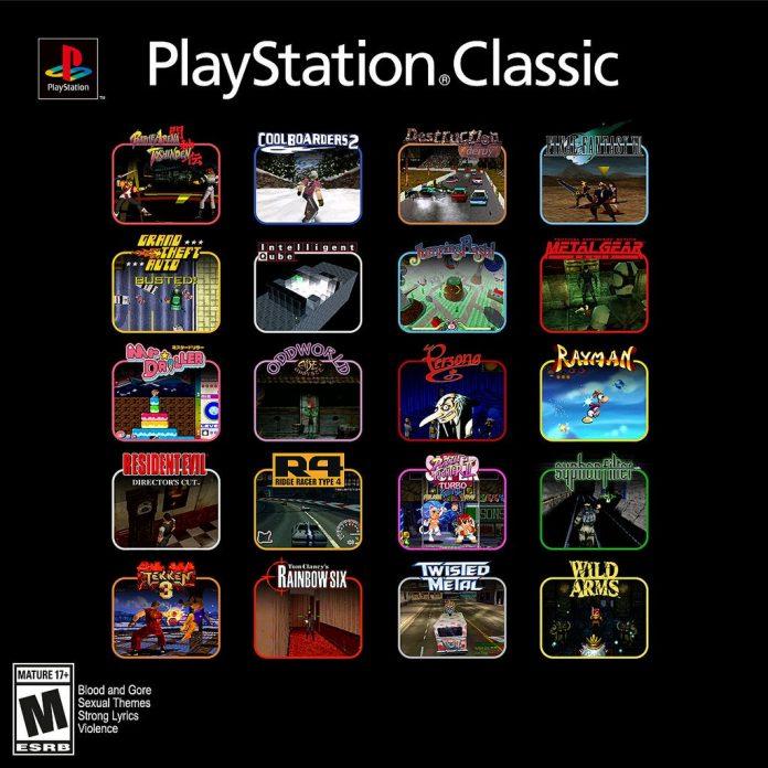 Lista definitiva de 20 juegos que tiene la PlayStation Classic
