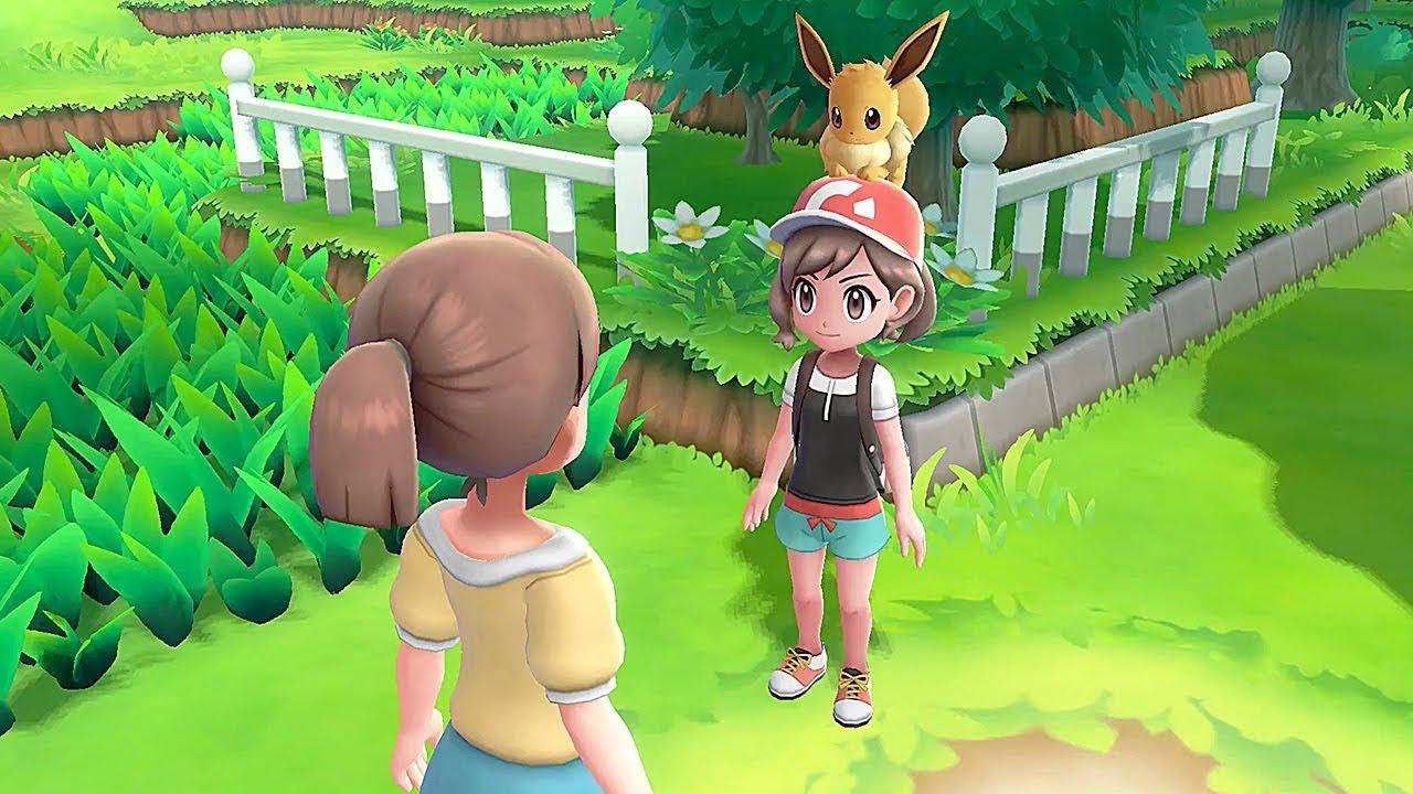 Los gráficos de nintendo Switch en Pokémon Let's Go Eevee
