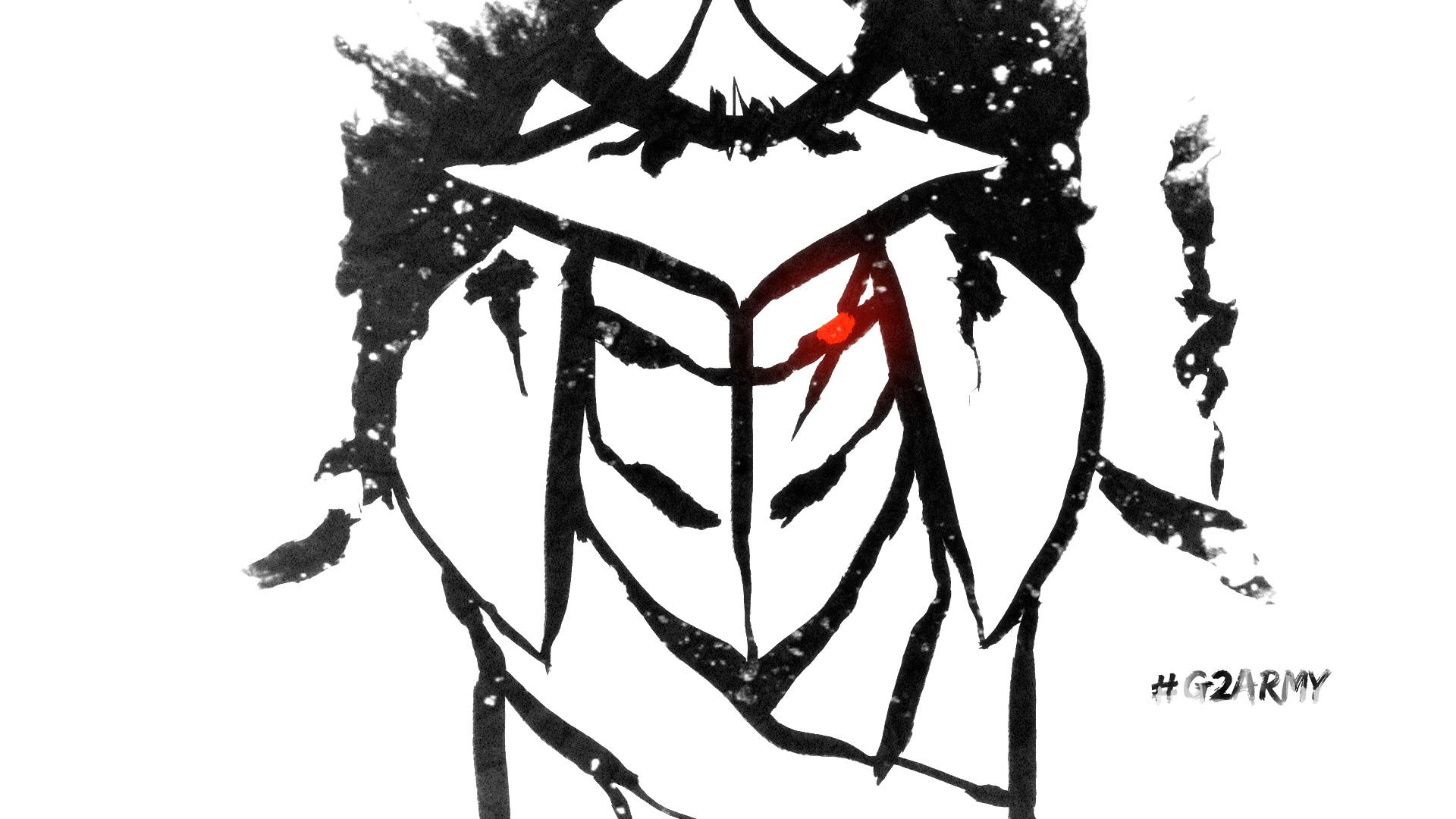 Artwork del logo de G2, publicado en la web de G2 Esports