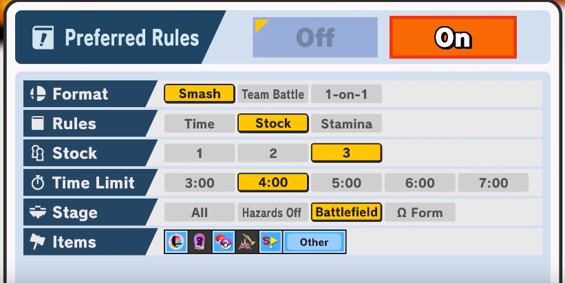 Smash Online Rules