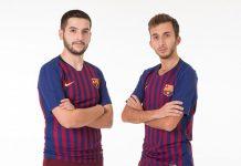 El Barcelona presenta sus dos primeros fichajes para la eFootball Pro. Alex Alguacil y Pau Lara