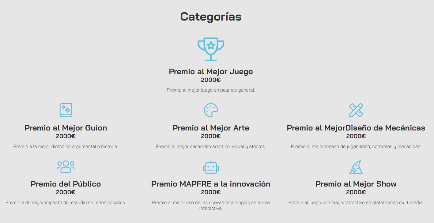 Las siete categorías que repartirán 14.000€ en premios en los DEV Gameboss de este año en Elche