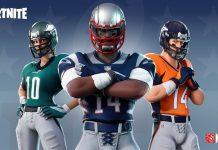 Aspectos de los equipos NFL en Fortnite, tras su asociación.