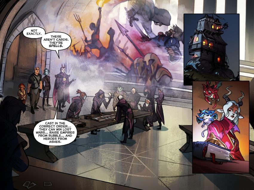 """El cómic """"Preludio"""" ahonda en el """"lore"""" del juego más de lo que nos podíamos esperar, justificando incluso la existencia de las cartas."""