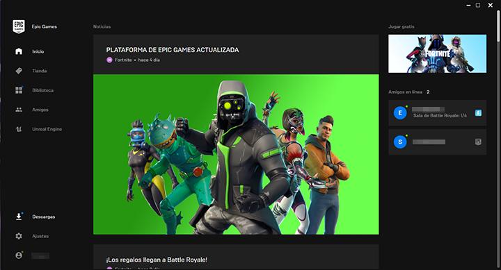 Nueva actualización de la plataforma de Epic Games.