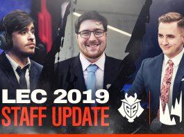 G2 Esports presenta a su staff técnico para la LEC 2019
