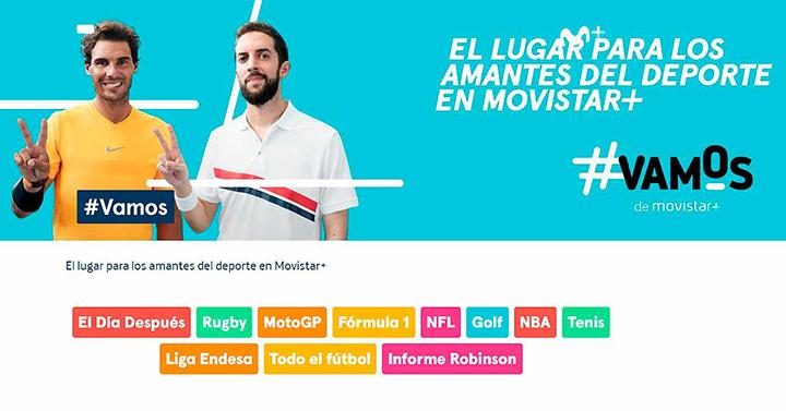 #Vamos, el nuevo canal de Movistar+.