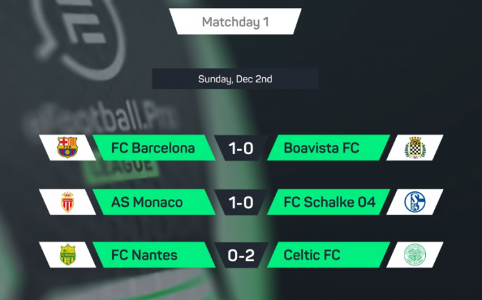 Barcelona y el Celtic dominan en el inicio de la eFootball Pro League