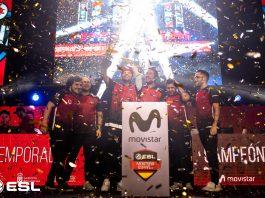 Vodafone Giants levantando el trofeo de campeones de la cuarta temporada de ESL Masters de CS:GO - Fotografía de Gabriel Jiménez