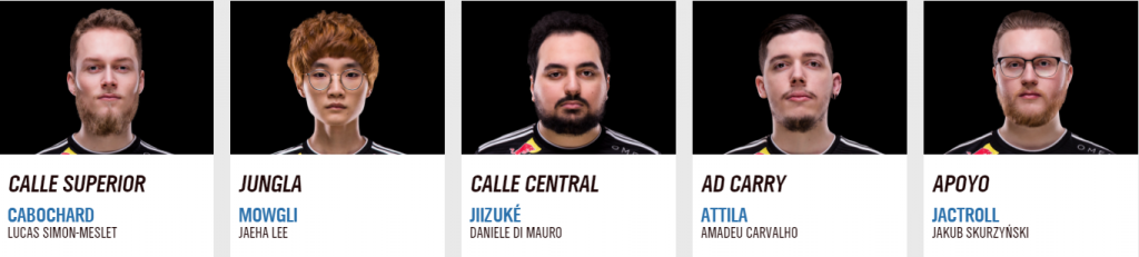 Vitality roster