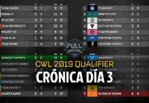 Tercer día del Qualifier a CWL Pro League 2019