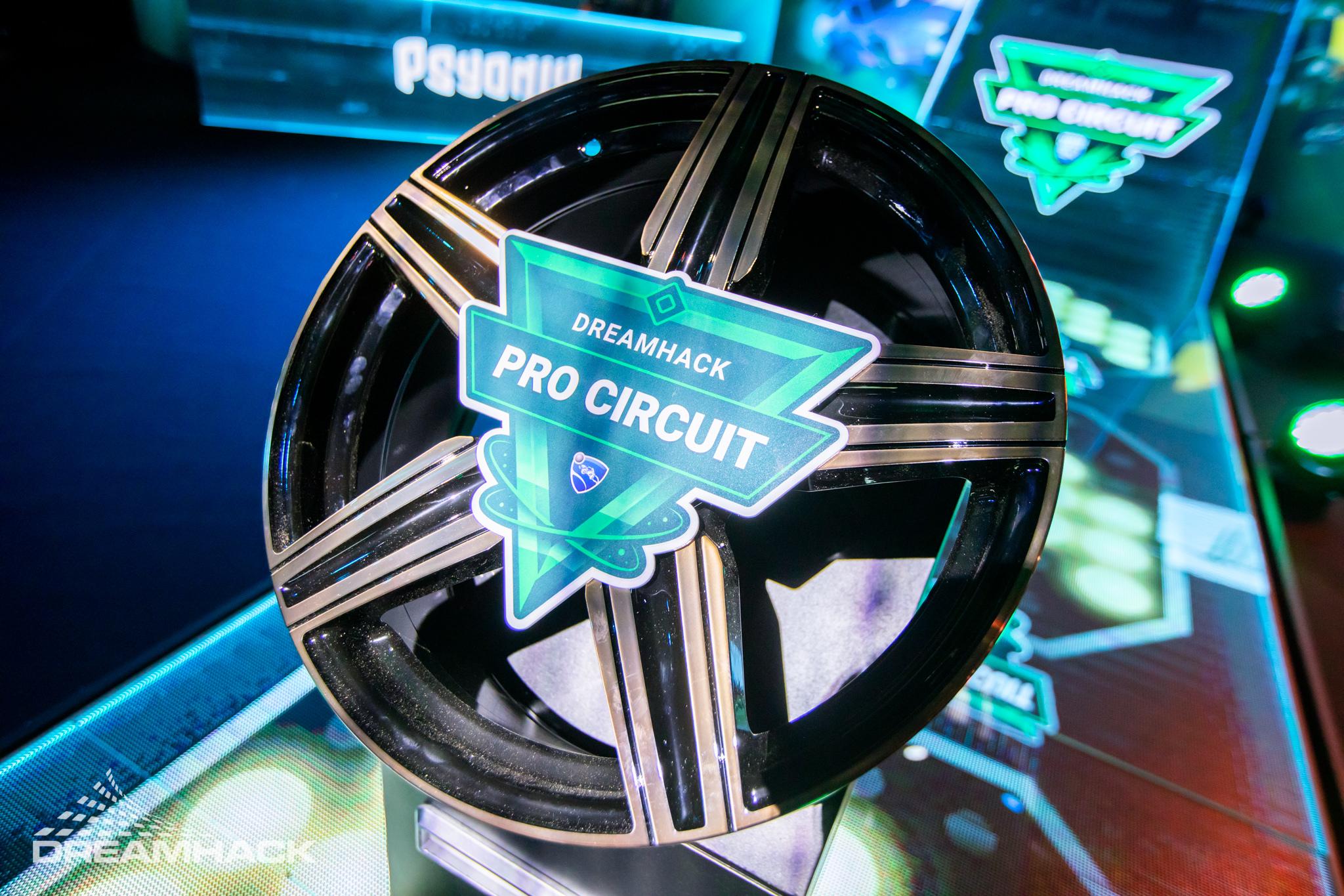 El trofeo de DreamHack Leipzig, en forma de llanta. Vía DreamHack.