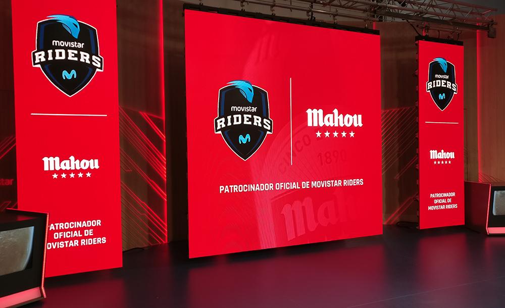 Evento de presentación de Mahou Cinco Estrellas como patrocinador de Movistar Riders.