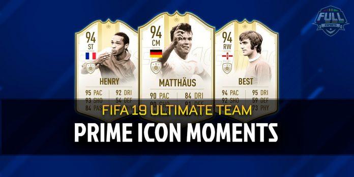Prime Icon Moments: nuevas cartas en FIFA Ultimate Team