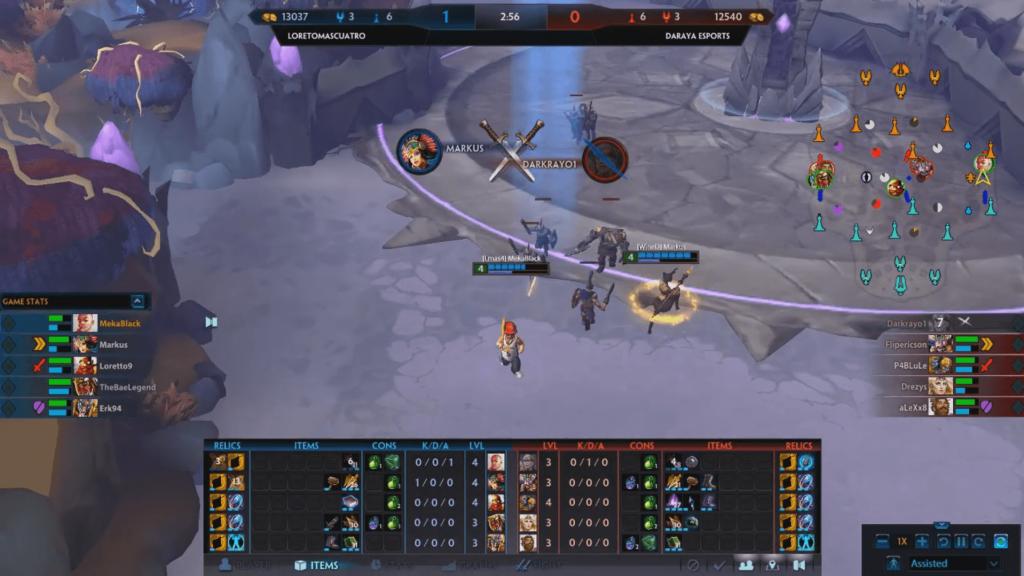 Markus se echó el equipo a la espalda y fue un factor vital para la victoria de Loreto+4. | Propiedad: IGN Smite League