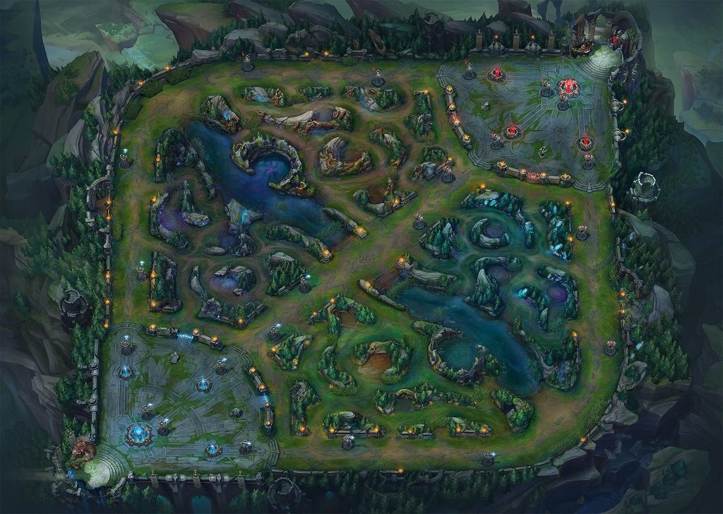 La grieta del invocador, mapa de League of Legends que se usa para competiciones
