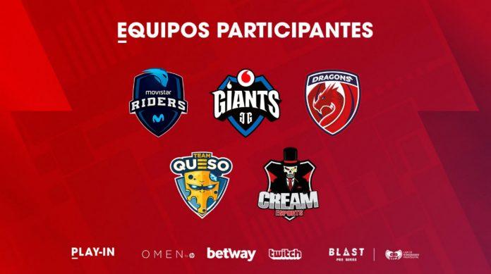 Equipos españoles para el clasificatorio al Blast Pro Series de Madrid.